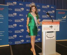 Miss Teen International at an Alliance for a Healthier Generation event at the Clinton Library!