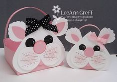 Punch Art Easter Bunny Baskets