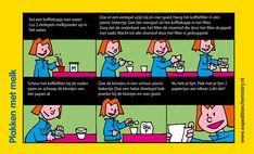 Plakken met melk, leuk proefje voor kinderen op de basisschool!