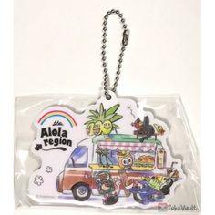 Pokemon Center 2019 Pokemon World Market Campaign Litten Rowlet & Friends Acrylic Plastic Character Keychain (Version Alola Region)