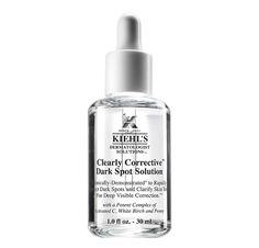 Kiehl's Clearly Corrective™ Dark Spot Solution mildert schnell und wirksam Hautunregelmäßigkeiten für einen Teint voller Ausstrahlung und Ebenmäßigkeit. Die tägliche Anwendung beugt vor künftigen Pigmentflecken vor und sorgt für einen ebenmäßigen Teint.