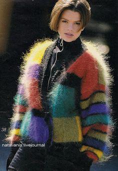Всем,кто вяжет,дарю старые идеи для новых работ: сентября 2011 Fluffy Sweater, Angora Sweater, Knit Sweaters, Cardigans, Gros Pull Mohair, Yellow Cardigan, Knitwear Fashion, Vintage Knitting, Beautiful Outfits