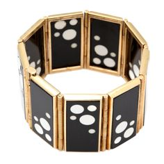 A statement cuff, like this vintage art deco one, makes a perfect gift for stylish friends and they tend to fit any wrist size #BECCA #WishLists — Kerry Cole, Style Director