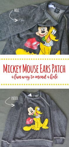 Mickey Mouse Ears Patch- A Fun Way to Mend! – Mary Martha Mama