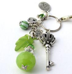 Green and Silver Clip On Purse Charms PC710 | DesignsForAnAngel - Accessories on ArtFire