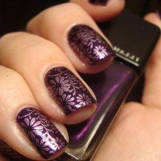 30 Dark Purple Nail Designs - London Beep