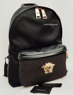 dadb612364ad Versace Medusa Studded Backpack Shoulder Bag Unisex -Great Gift!