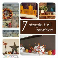 Seven Lovely Fall Mantles