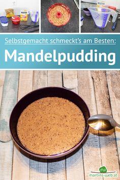 Wie du in meinem gestrigen Posting sicher gesehen hast, kannst du selbst Pudding in der Micro-Chef Kanne zubereiten. Heute zeige ich dir, wie du einen absolut köstlichen Mandelpudding am Herd zubereiten kannst. Keine Sorge, es ist ganz leicht und dauert keine 15 Minuten. #mandelpudding #mandeln #pudding #dessert #nachspeise #rezept #einfachkochen #einfacherezepte #simpelundschnell #schnellgekocht Herd, Tupperware, Cornbread, Oatmeal, Breakfast, Ethnic Recipes, Bakken, Easy Cooking, Almonds