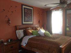 awesome burnt orange bedroom paint color interior design