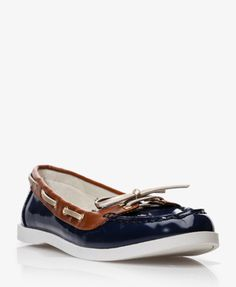 Faux Patent Boat Shoes at forever 21