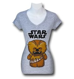 Save $5 on any order over $25 order when you share our page to your favorite social media network.  Discount does not apply to HeroBox Star Wars Cute Chewbacca Women's V-Neck T-Shirt