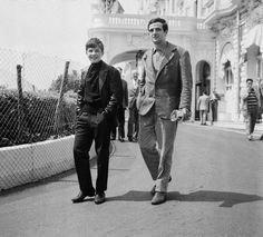 Jean-Pierre Léaud and François Truffaut.
