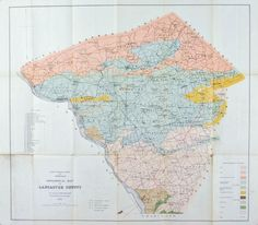 Lancaster County Pennsylvania Antique Map 1880
