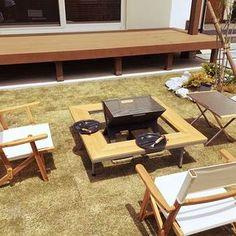 男性で、のモルタル/無垢材/玄関/玄関ドア/ウッドデッキ/バーベキュー…などについてのインテリア実例を紹介。「庭BBQ始めました」(この写真は 2017-05-07 13:47:27 に共有されました) Camping Furniture, Outdoor Furniture Sets, Outdoor Decor, Outdoor Ideas, Backyard, Patio, Picnic Table, Outdoor Camping, Outdoor Living