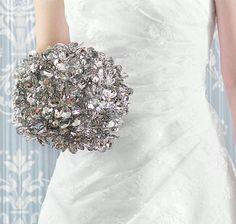 beaded mirror bouquet