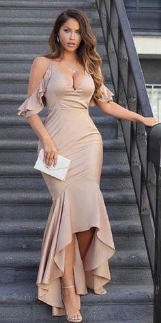 Spaghetti Straps Bridesmaid Bridesmaid, Mermaid High Low Cheap Modest Prom Dresses , – African Fashion Dresses - African Styles for Ladies Trendy Dresses, Elegant Dresses, Plus Size Dresses, Sexy Dresses, Beautiful Dresses, Dress Outfits, Evening Dresses, Casual Dresses, Fashion Dresses
