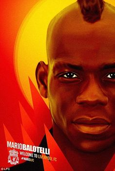 All aboard: The club posted this arty welcome to Balotelli on their Twitter