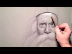 """Richard"" 140 minutes live white chalk pencil on black paper crosshatching drawing demo by Zimou Tan - YouTube"