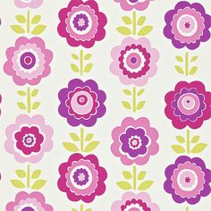 Oopsie Daisy Wallpaper - Pink/Purple/Lime - Harlequin All About Me Fabrics & Wallpapers Collection Lime Green Wallpaper, Daisy Wallpaper, Harlequin Wallpaper, Wallpaper Gallery, Paper Wallpaper, Pink Lila, Pink Purple, Pink Turquoise, Rose Gold Pictures