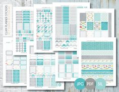 Free Monthly Printable Planner Stickers Set - Rainy Day - Erin Condren
