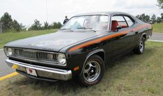 1971 Plymouth Duster ... i had one in the 80's except mine was metallic brown with a white stripe.  Boy do i miss that car now :)