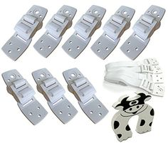 Bébé Earth® Anti-Tip Furniture Straps - 8 Pack - Anchor ANY Furniture   STRONG Straps, Buckles, Screws   EXTRA Hold, Adjustable & Quake Safe   FREE Door Slammer Guard - WHITE Bébé Earth http://www.amazon.com/dp/B014R5XIDY/ref=cm_sw_r_pi_dp_DPXywb1M28KCM
