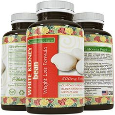 White Kidney Bean Extract 1 Premium Formula for Weight Loss Appetite Suppression Highest Grade Best Premium Quality Carb Blocker Guaranteed By California Products -- For more information, visit image link. Workout Supplements For Men, Fiber Supplements, White Kidney Bean Extract, White Kidney Beans, Carb Blocker, Medical Weight Loss, Weight Loss Program, How To Lose Weight Fast, Detox Products