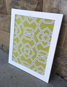 Framed Fabric Magnetic Board with Painted Frame  by Redesign10