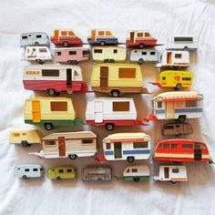 My caravan collection was featured yesterday on the page of collector extraordinaire Vintage Caravans, Vintage Travel Trailers, Vintage Campers, Motorhome, Retro Caravan, Coca Cola, Displaying Collections, Old Toys, Vintage Toys