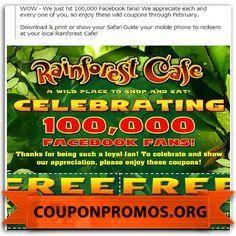 Rainforest cafe coupons dec 2018