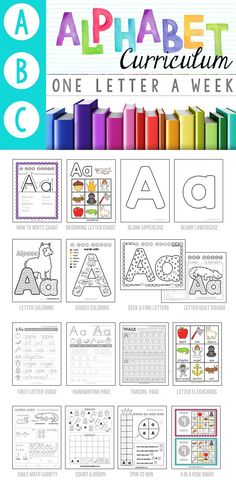 Instant Letter of the Week Preschool Activities, Games and Worksheets with our Alphabet Curriculum Notebook.