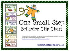 One Small Step Behavior Clip Chart from overthemoonbow on TeachersNotebook.com -  (10 pages)  - This colorful, space themed behavior chart is based on the clip chart behavior management system by Rick Morris.