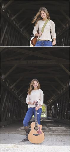 Guitar Senior Pictures in Fremont Ohio by Britt Lanicek Photography