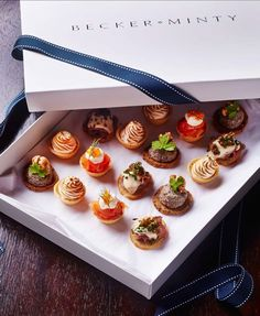 Bespoke canape box for a corporate client