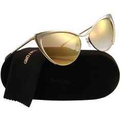Tom Ford Nastasya FT0304 Sunglasses 28G Shiny Rose (Gold Mirror Lens)