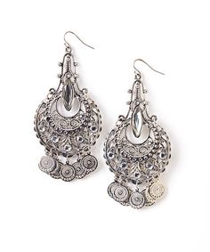 Another great find on #zulily! Silver Filigree Chandelier Drop Earrings #zulilyfinds