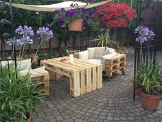 Outdoor Furniture Sets, Outdoor Decor, Patio, Home Decor, Diy Pallet Furniture, Furniture From Pallets, Homemade Home Decor, Yard, Terrace
