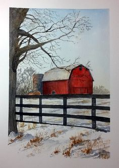 Another barn. This is from an image I found on Pinterest! Charles Cherry art