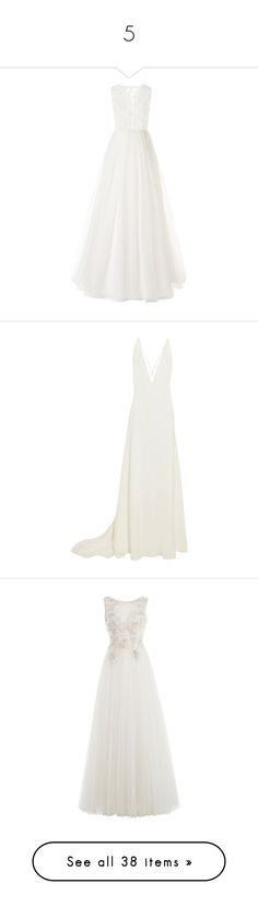 """""""5"""" by milenam204 on Polyvore featuring dresses, gowns, wedding, petite dresses, white dress, petite white dresses, long dresses, vestidos, white and white summer dress"""