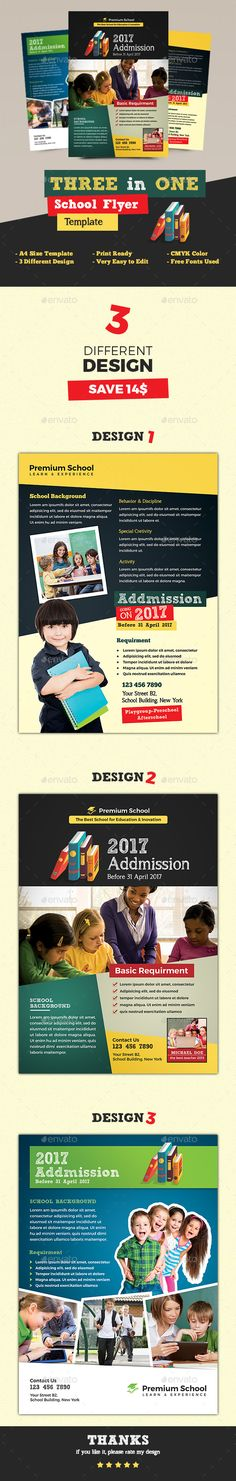 School Flyer — Photoshop PSD #colorful flyer #primary • Available here → https://graphicriver.net/item/school-flyer/16819837?ref=pxcr