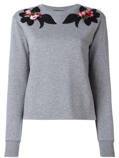 Dolce & Gabbana embroidered flower sweatshirt