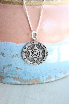 Sterling Silver STAR OF DAVID charm necklace by MAJIdesigns, $26.00
