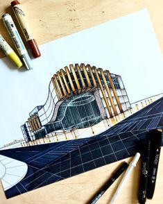 "791 Me gusta, 5 comentarios - architectural sketches (@sketch_architecture_) en Instagram: ""S K E T C H  B Y: @siavash91arch ✍✍✍ #sketch_arq #skechers  #arquitetapage  #sketcharchitecture…"""