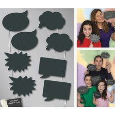 Chalk Photo Props - Incl. Chalk - Pack of 8. Ideas for a DIY wedding. From Wedding favours to DIY wedding decorations, wedding photo booth props, tableware and more. Save money with DIY wedding decorations.