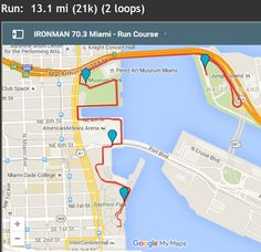 Run Course for 2015 Ironman Miami Half Ironman, Race Bibs, Athletic Events, Iron Man, Cruise, Miami, Racing, Seasons, Fitness