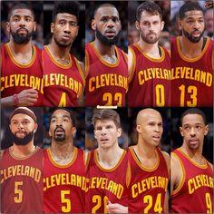 When healthy, the Cleveland Cavaliers are deep!   TAGS: LeBron Kyrie KLove Shump DoubleT JRSwish DWill KK Frye RJ DW Ligg Champ JMac Kay TyLue