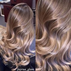 Can't get over this ombré/balayage I did well blended from roots to ends no brass super healthy hair ! by jayrua_glam Honey Blonde Hair, Blonde Hair Looks, Brunette Hair, Beautiful Hair Color, Aesthetic Hair, Hair Color Balayage, Dyed Hair, Hair Inspiration, Hair Inspo