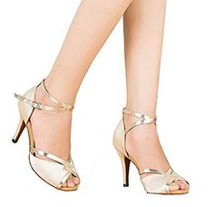 TDA Womens Ankle Strap Beige Satin Latin Modern Samba Rumba Wedding Dance Shoes M US *** You can get more details by clicking on the image. Champagne Shoes, Thing 1, Satin, Bridal Beauty, Adidas Shoes, Ankle Strap, Stiletto Heels, Athletic Shoes, Fashion Shoes