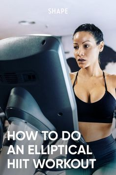 What makes the elliptical a good cardio machine also makes it great for HIIT workouts—if you do them right. Here's how. #ellipticalworkouts #fitnesstips #athomeworkout Intense Cardio Workout, Cardio Workouts, Hiit, At Home Workouts, You Fitness, Fitness Tips, Tabata Intervals, Sweat It Out, Jump Squats